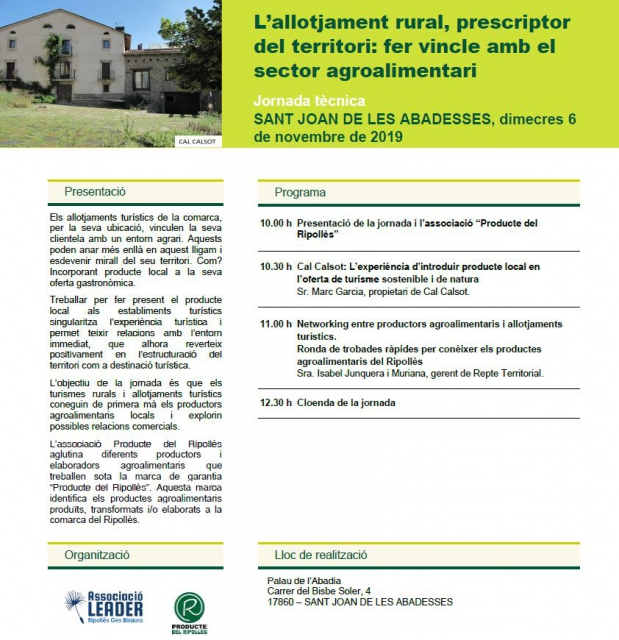 L'allotjament rural, prescriptor del territori